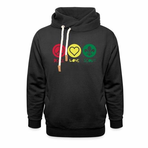 Peace Love Scout - Sweat à capuche cache-cou unisexe