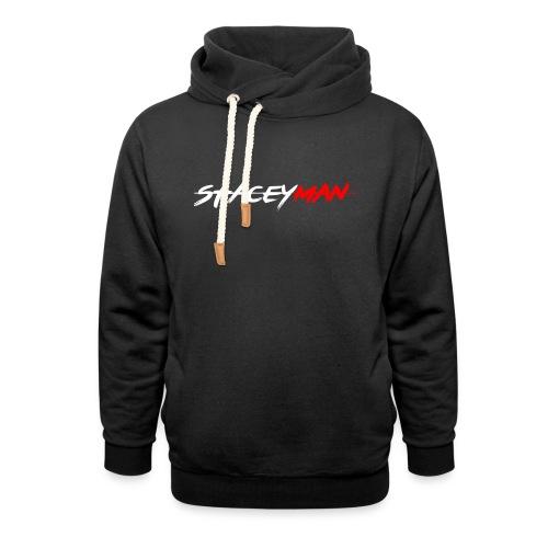 staceyman red design - Shawl Collar Hoodie