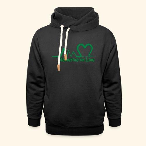logo verde Associazione Valnerina On line - Felpa con colletto alto