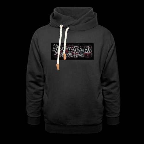 red camo - Sjaalkraag hoodie