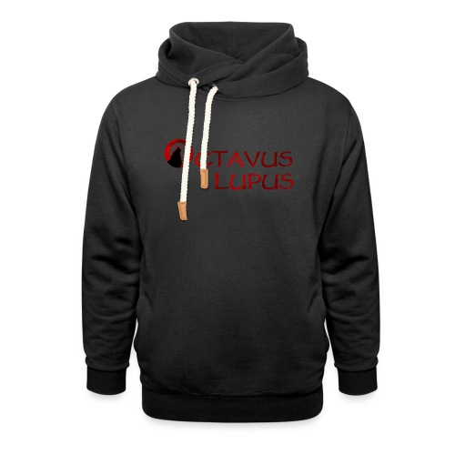 Octavus Lupus - Logo Rouge - Sweat à capuche cache-cou unisexe