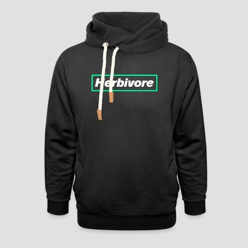 Herbivore Logo White - Felpa con colletto alto