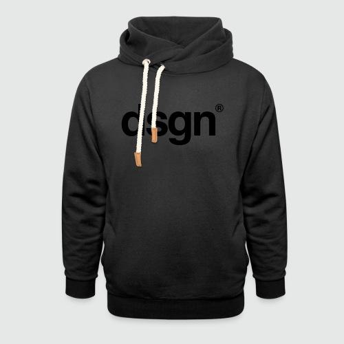 DSGN_01_LS_BLK - Sjaalkraag hoodie