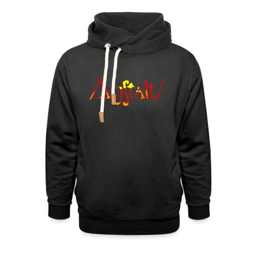 /'angstalt/ logo gerastert (flamme) - Unisex Schalkragen Hoodie