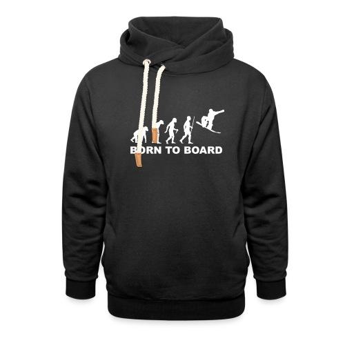 Board_wit - Sjaalkraag hoodie