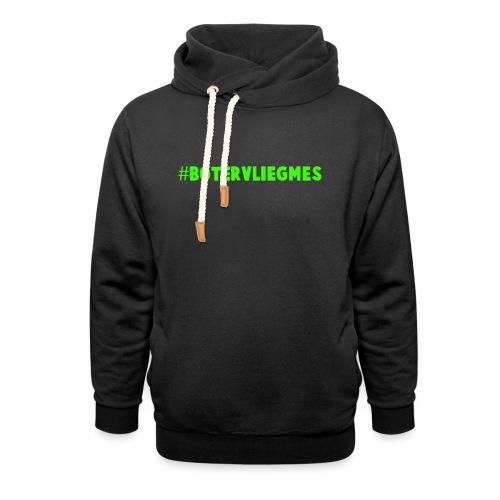 #Botervliegmes T-shirt (vrouwen) - Unisex sjaalkraag hoodie