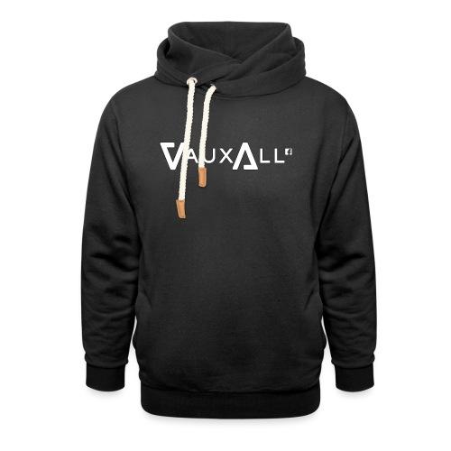 VauxAll Logo   White   Original - Unisex Shawl Collar Hoodie