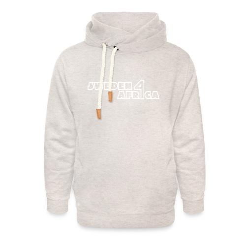 sweden 4 africa text logo v2 white - Luvtröja med sjalkrage unisex