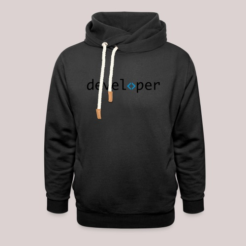 developer, coder, geek, hipster, nerd - Schalkragen Hoodie