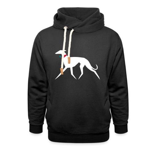 Weihnachtswindhund - Schalkragen Hoodie