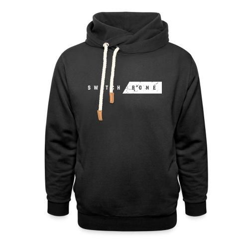 Switchbone_white - Unisex sjaalkraag hoodie