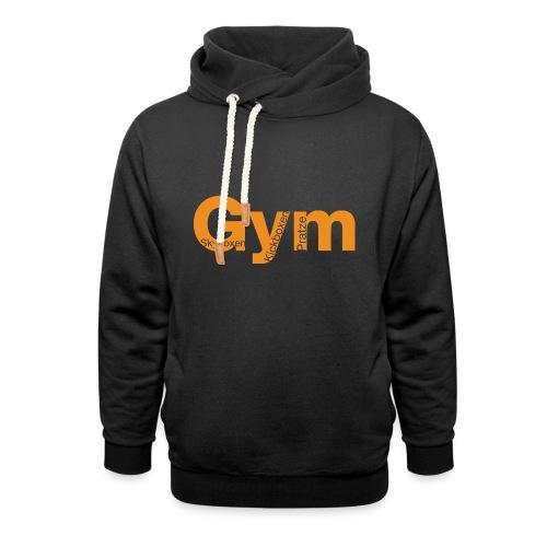 Gym orange - Schalkragen Hoodie