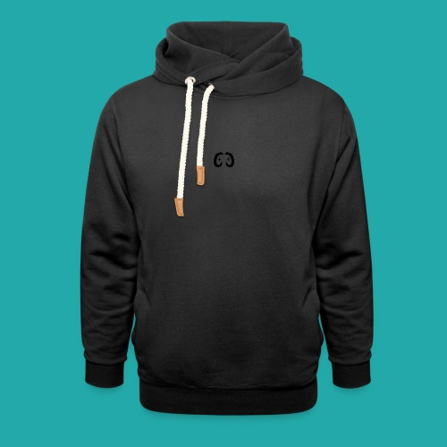 Crowd Control Controller Logo Black Large - Unisex Shawl Collar Hoodie