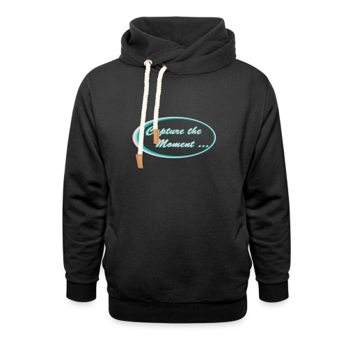Logo capture the moment photography slogan - Shawl Collar Hoodie