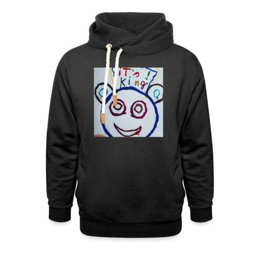 de panda beer - Unisex sjaalkraag hoodie