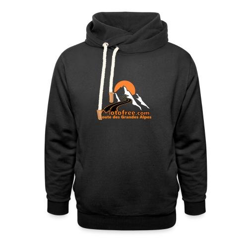 logo motofree orange - Sweat à capuche cache-cou unisexe
