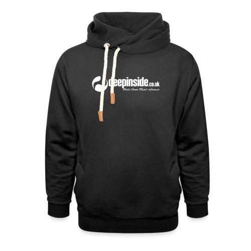 DEEPINSIDE World Reference logo white - Unisex Shawl Collar Hoodie