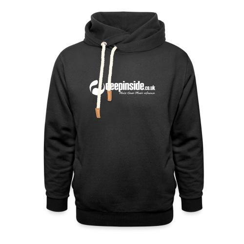 DEEPINSIDE World Reference logo white - Shawl Collar Hoodie