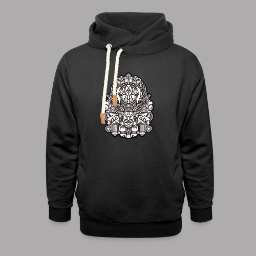 connected black - Unisex Shawl Collar Hoodie