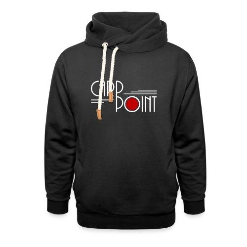Carp Point linien weißrot - Unisex Schalkragen Hoodie