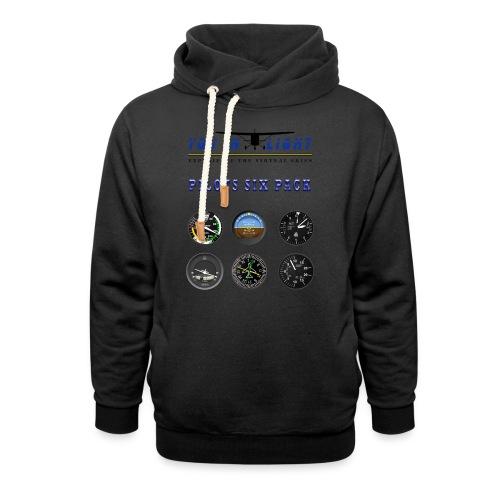 Pilots six pack shirts - Hoodie med sjalskrave