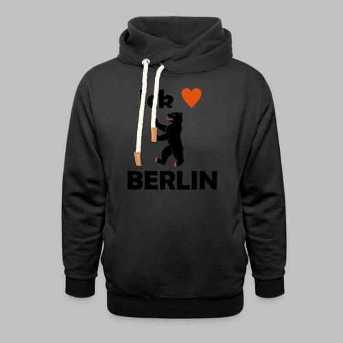 Ick liebe ❤ Berlin - Unisex Schalkragen Hoodie