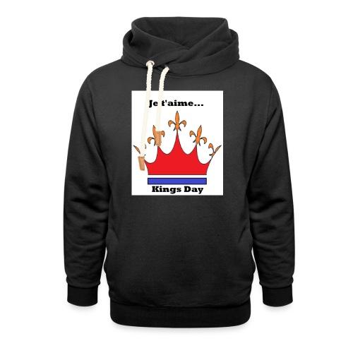 Je taime Kings Day (Je suis...) - Sjaalkraag hoodie