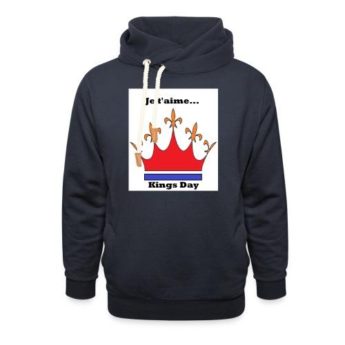 Je taime Kings Day (Je suis...) - Unisex sjaalkraag hoodie