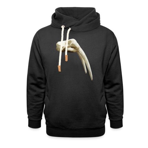 Schedel van een walrus - Unisex sjaalkraag hoodie