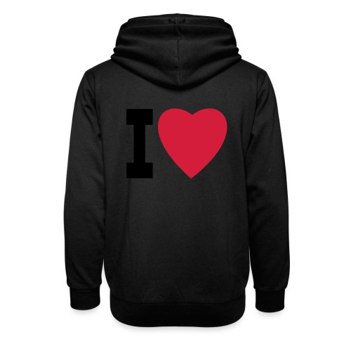 create your own I LOVE clothing and stuff - Shawl Collar Hoodie