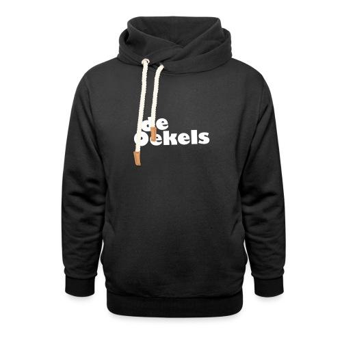 DeOekels t-shirt Logo wit - Unisex sjaalkraag hoodie