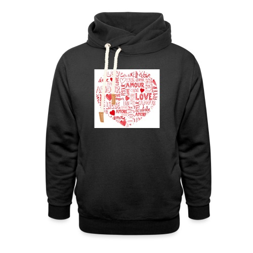 T-shirt texte amour - Sweat à capuche cache-cou