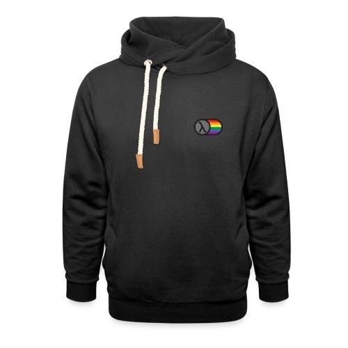 Lambda Regnbuelogo - Unisex hoodie med sjalskrave
