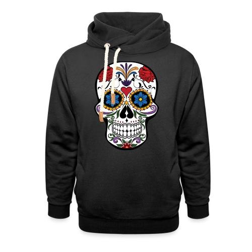 skull catrina - Sudadera con capucha y cuello alto