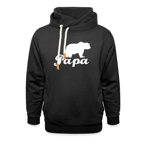 papa beer - Unisex sjaalkraag hoodie