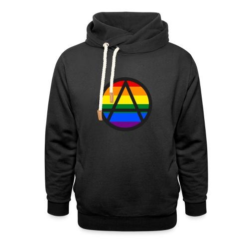 Logo ZELA drapeux gay - Sweat à capuche cache-cou