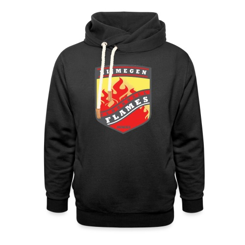 trainingsjack rood - Unisex sjaalkraag hoodie