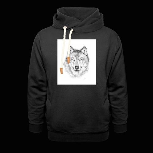Wolf - Hoodie med sjalskrave