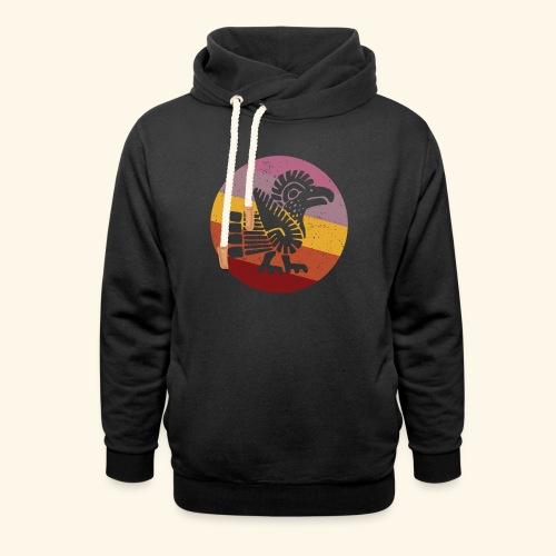 Navajo Style Turkey Retro - Shawl Collar Hoodie