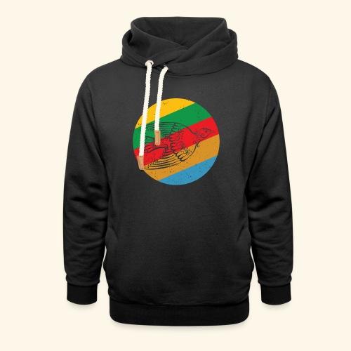 Grenadian Dove Retro - Shawl Collar Hoodie