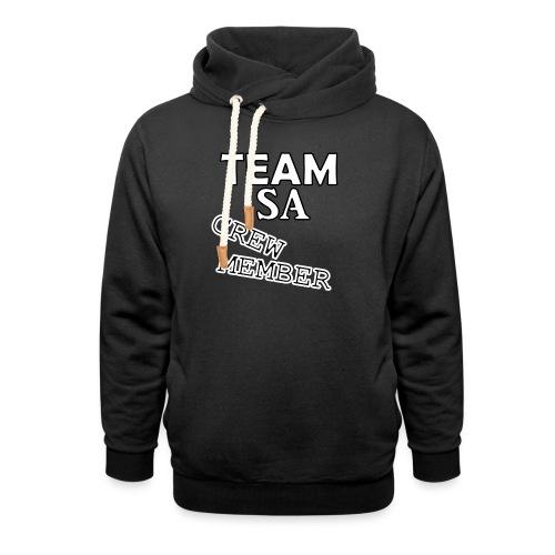 Team SA Crew Member Vit - Luvtröja med sjalkrage