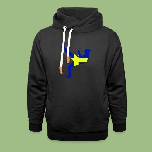 Ibra Sweden flag - Luvtröja med sjalkrage