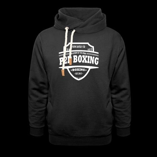 P2P Boxing White Logo - Shawl Collar Hoodie