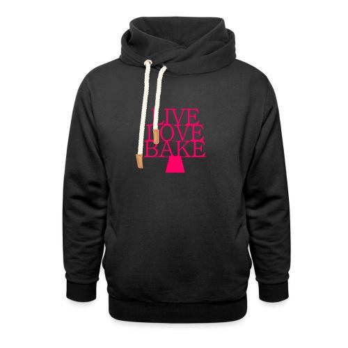 LiveLoveBake ekstra stor - Unisex hoodie med sjalskrave