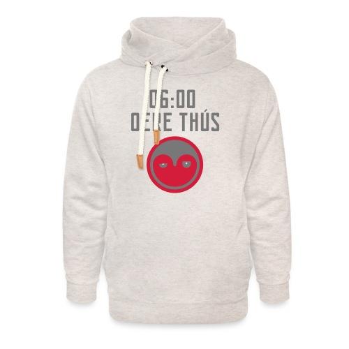 6 oere tus - wit - Unisex sjaalkraag hoodie