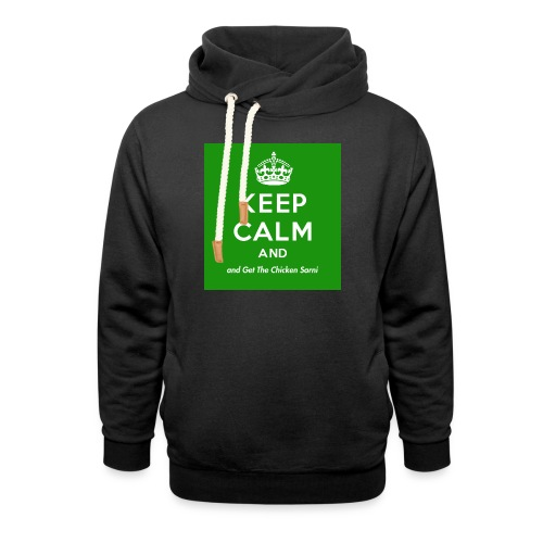 Keep Calm and Get The Chicken Sarni - Green - Shawl Collar Hoodie