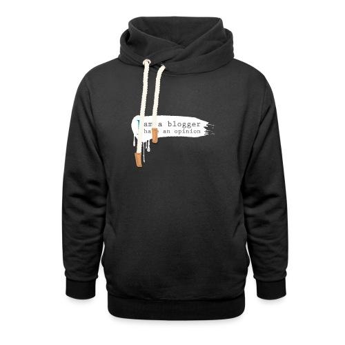 I Am A Blogger - White - Unisex Shawl Collar Hoodie