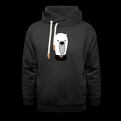 officel_polarbear_shop_logo - Hoodie med sjalskrave