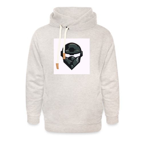 Mainlogo - Unisex hoodie med sjalskrave