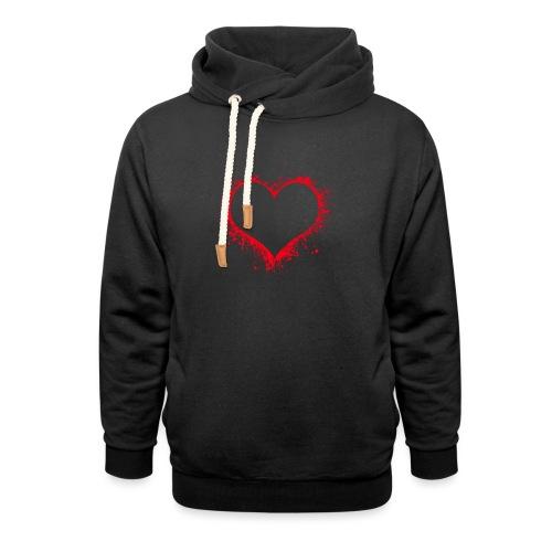 heart 2402086 - Felpa con colletto alto